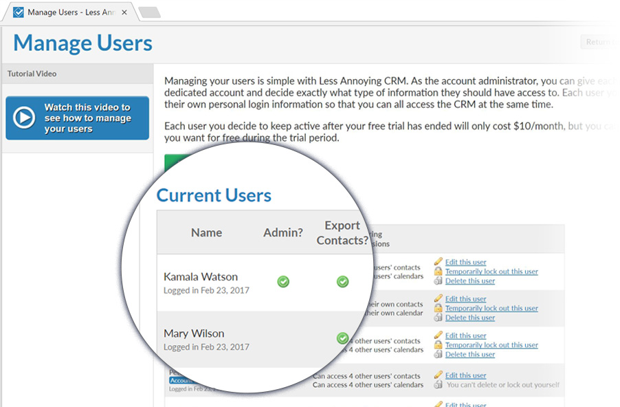 Check out LACRM's user management features!